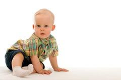 Nadenkende babyjongen Royalty-vrije Stock Afbeelding
