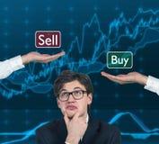Nadenkende bedrijfsmens Stock Foto's