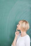 Nadenkende vrouwelijke student Stock Afbeelding