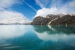 Naderbij komende Gletsjer Lamplugh Stock Afbeeldingen