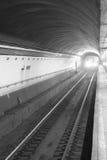 Naderbij komende trein Royalty-vrije Stock Afbeeldingen