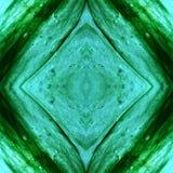 naderend het glas in aquamarijn en groene kleuren, met symmetrie en bezinningseffect, achtergrond en textuur vector illustratie