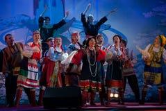 Nadezhda Babkina e la sua squadra Fotografia Stock