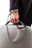 Nadgarstek przykuwająca bezpieczna walizka zdjęcie royalty free