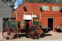 Nadgraniczna wioska - Cheyenne kresy dni Obraz Stock