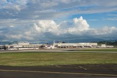 Nadi, aéroport international des Fidji, maison pour Air Fiji Image stock