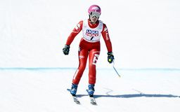 Nadia Fanchini  2015 World Cup in Meribel Royalty Free Stock Photography