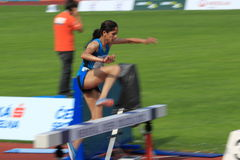 Nadia Noujani - 3000 metres hurdles in Prague 201 Royalty Free Stock Photo