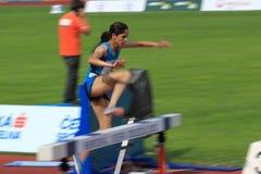 Nadia Noujani - obstáculos de 3000 medidores em Praga 201 Foto de Stock Royalty Free