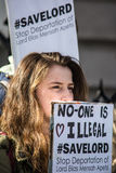 Nadie es ilegal Foto de archivo libre de regalías