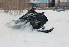 Nadim, Russia - April 20, 2008: Snoukross. Vadim Vasuhin jump in Royalty Free Stock Image