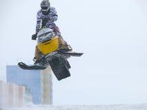 Nadim, Russie - 19 avril 2009 : Snoukross Vadim Vasuhin sautent I Image libre de droits