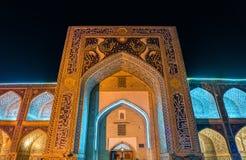 Nadir Divan-Beghi Madrasah i Bukhara, Uzbekistan royaltyfria foton