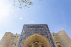 Nadir Divan Begi. Nadir Divan-begi Madrasah. Part of the architectural complex located round well-known Lyabi-Hauz in Bukhara, Uzbekistan royalty free stock photo