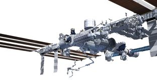 Nadir image of the International Space Station Stock Photo
