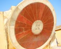 Nadivalaya - ein astronomisches Instrument am alten Observatorium, Jantar Mantar, Jaipur, Rajasthan, Indien Lizenzfreie Stockbilder
