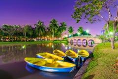 Nadjeziorne łodzie w Chatuchak parku Obraz Stock