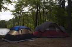 Nadjeziorny campout Zdjęcie Royalty Free
