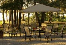Nadjeziorny patio Zdjęcie Royalty Free