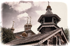 Nadkladeznaya chapel Great Nikita Royalty Free Stock Photography
