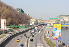 Nadmiar billboardy na nabrzeżu obraz royalty free