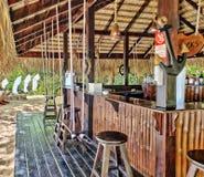 Nadmorski bar, Puerto Plata, republika dominikańska fotografia stock