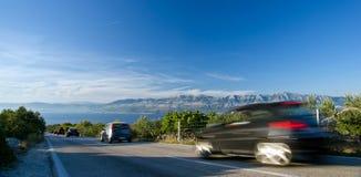 nadmorski brzegowy perspektywiczny drogowy widok Zdjęcia Stock