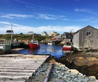Nadmorski Canada łodzi grodzka zatoczka obraz royalty free