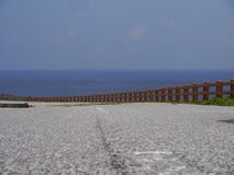 Nadmorski droga w Yonaguni wyspie, Japonia Fotografia Stock