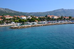 Nadmorski grodzki Orebic w Chorwacja, Europa obrazy stock