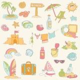 Nadmorski i lato ilustracja wektor