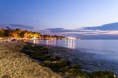 Nadmorski lata miasta linia horyzontu - Turcja Obrazy Stock