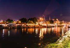 Nadmorski lata miasta linia horyzontu - Turcja Fotografia Stock