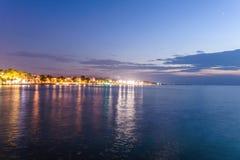 Nadmorski lata miasta linia horyzontu - Turcja Zdjęcie Stock