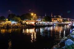 Nadmorski lata miasta linia horyzontu - Turcja Zdjęcia Stock