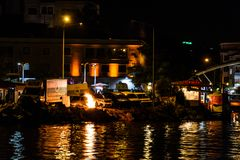 Nadmorski lata miasta sceneria - Turcja Zdjęcia Stock