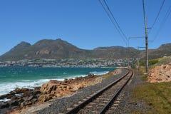 Nadmorski linia kolejowa Obraz Stock