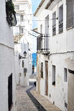 Nadmorski miasteczka ulica Zdjęcie Stock