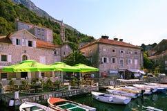 Nadmorski miasteczko Perast, Montenegro zdjęcia royalty free