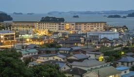 Nadmorski miasteczko w Matsushima, Japonia Obrazy Royalty Free