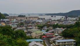 Nadmorski miasteczko w Matsushima, Japonia Obrazy Stock