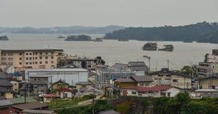 Nadmorski miasteczko w Matsushima, Japonia Obraz Royalty Free