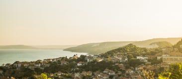 Nadmorski miejscowość turystyczna zdjęcia royalty free