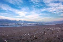 Nadmorski morze kaspijskie w północnej części Iran Obrazy Royalty Free