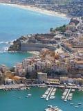 nadmorski plażowy miasteczko zdjęcia royalty free