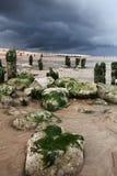 Nadmorski plaży burzy wybrzeże zdjęcia royalty free