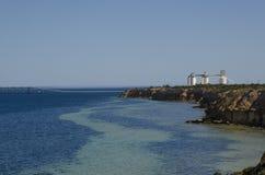 Nadmorski rafinerii seascape Zdjęcia Royalty Free