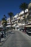 Nadmorski spaceru sposób w Calvi śródmieściu na Corsica wyspie w Francja Zdjęcia Stock