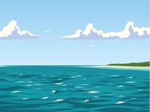 Nadmorski spokojny widok Zdjęcie Stock
