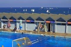 Nadmorski sporta pływacki basen Zdjęcia Royalty Free